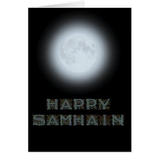 Lycklig Samhain fullmåne Hälsningskort