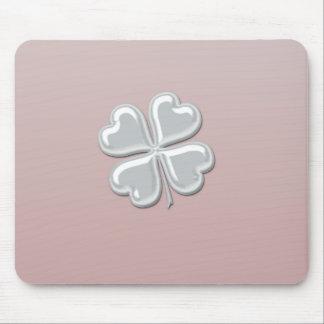 Lycklig shamrock för charmig förtjusande chicpärla musmatta