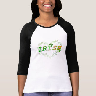 Lycklig Shamrock för irländsk hjärta Tröjor