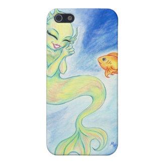 Lycklig sjöjungfru- och fiskiphone case iPhone 5 cover