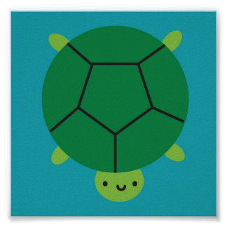 Lycklig sköldpadda poster