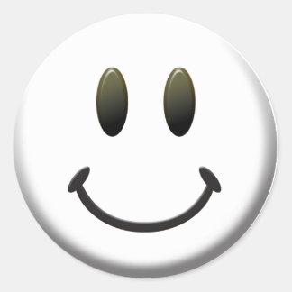 Lycklig smiley face runt klistermärke