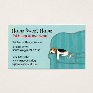 Lycklig soffahund visitkort
