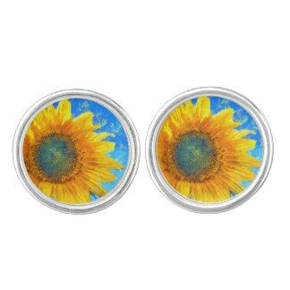 Lycklig solros cufflinks