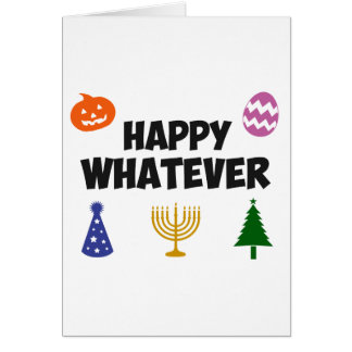 Lycklig spelar ingen roll helgdag hälsningskort