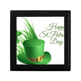 Lycklig st patrick's day, irländsk hattsaint för smyckeskrin