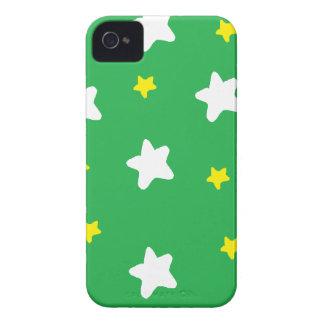 Lycklig stjärnagrönt iPhone 4 Case-Mate fodral