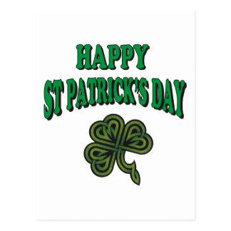 Lycklig Sts Patrick daggåva Vykort