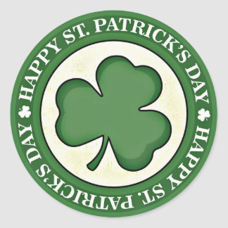 Lycklig Sts Patrick gräns för grönt för Runt Klistermärke