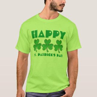 Lycklig Sts Patrick klöver för Shamrock för Tee
