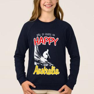 Lycklig surfare (vita) AUSTRALIEN, T-shirt
