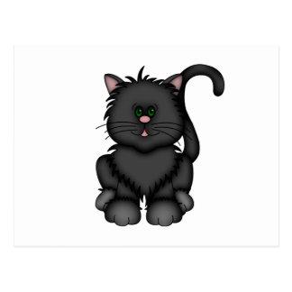 Lycklig svart Halloween katt Vykort