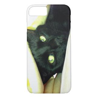 Lycklig svart katt