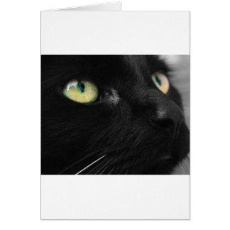 Lycklig svart katt hälsningskort
