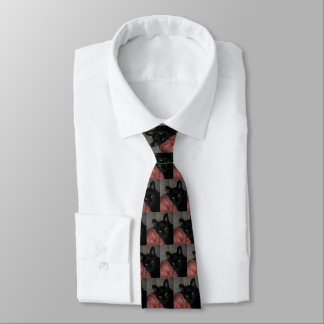 Lycklig svart kattHalloween Tie Slips