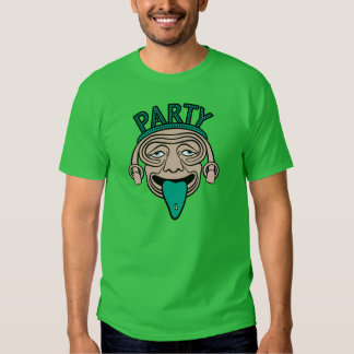Lycklig T-tröja för tungapartygrabb T-shirt