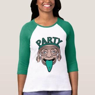 Lycklig T-tröja för tungapartygrabb T Shirt