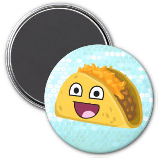 Lycklig taco magnet
