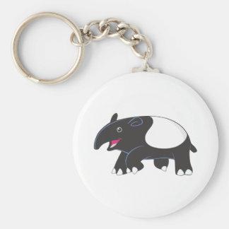 Lycklig Tapir Rund Nyckelring