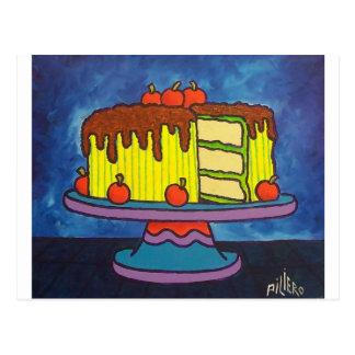 Lycklig tårta vykort