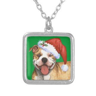 Lycklig Terrier för Howliday groptjur Silverpläterat Halsband