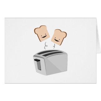 Lycklig Toaster Hälsningskort
