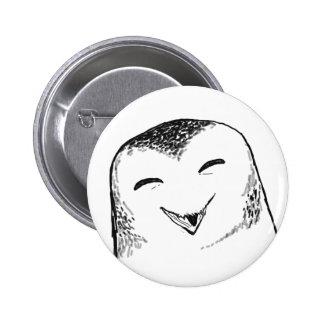 Lycklig uggla (rundan) standard knapp rund 5.7 cm