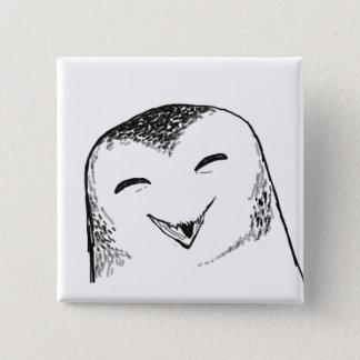 Lycklig uggla standard kanpp fyrkantig 5.1 cm