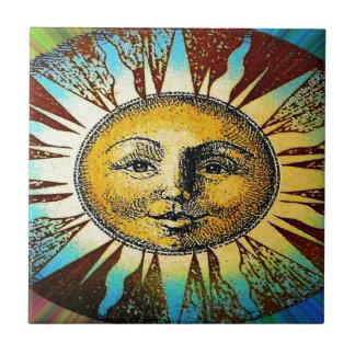 Lycklig utskrivavna gåvor för sol gud kakelplatta