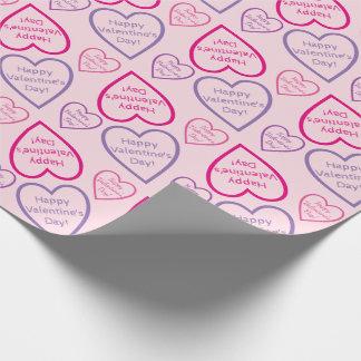 Lycklig valentin daghjärta skisserar mönster presentpapper