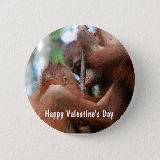 Lycklig valentin dagkyss standard knapp rund 5.7 cm