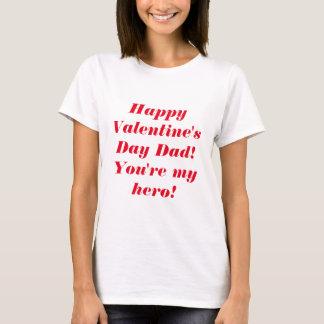 Lycklig valentin dagpappa t-shirt
