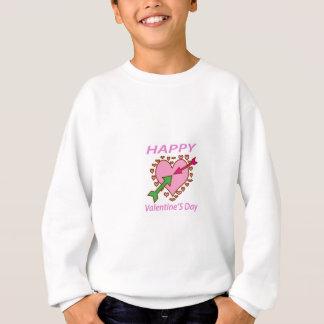 LYCKLIG valentin romantik för pilar för hjärta för T-shirts