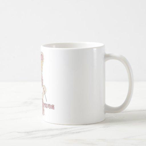 Lycklig vårkanin kaffe mugg