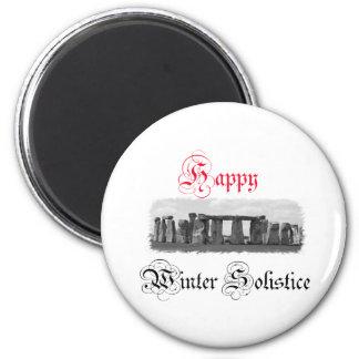 Lycklig vinterSolstice Stonehenge Magnet