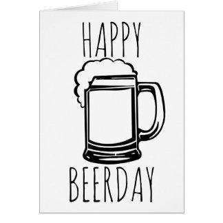 Lyckliga Beerday Hälsningskort