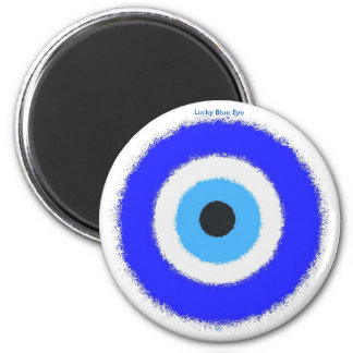 Lyckliga blått synar standart, 2 som ¼ flytta sig magnet