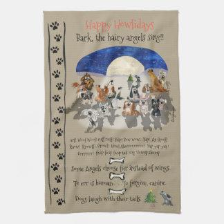 Lyckliga citationstecken för Howlidays tecknad Kökshandduk