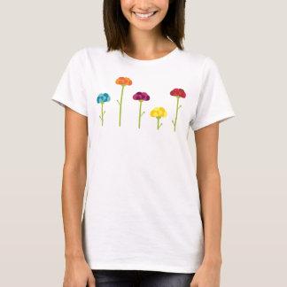 Lyckliga dagblommor t shirts