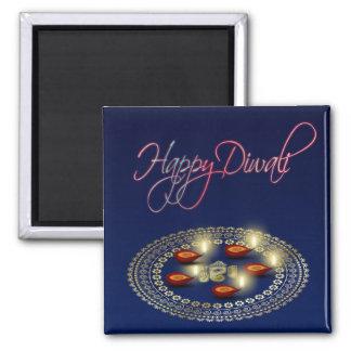 Lyckliga Diwali Ganesha Rangoli - magnet
