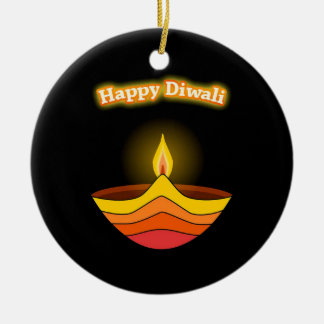 Lyckliga Diwali Julgransprydnad Keramik