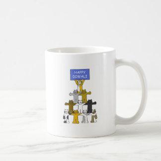 Lyckliga Diwali katter Kaffemugg