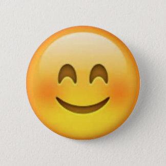 Lyckliga Emoji klämmer fast Standard Knapp Rund 5.7 Cm