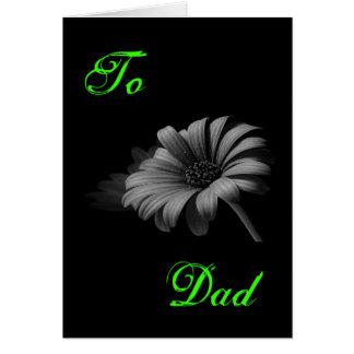 Lyckliga fars daggrå färg III Hälsningskort