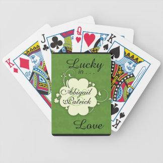 Lyckliga förälskade kort för spelkort