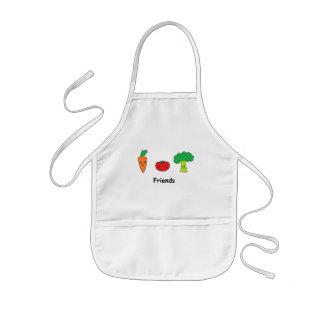 Lyckliga grönsakvänner barnförkläde