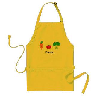 Lyckliga grönsakvänner förkläde