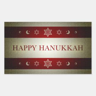 lyckliga hanukkah rektangulärt klistermärke