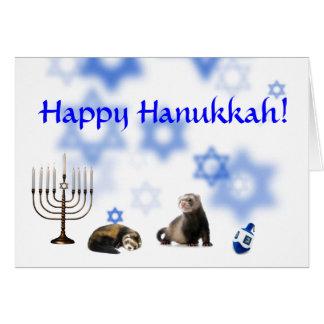 Lyckliga Hanukkah vesslor Hälsningskort