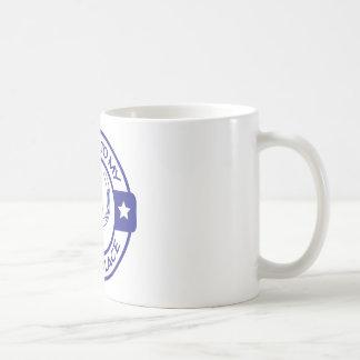 Lyckliga hästskoblått för ställe A258 Kaffemugg